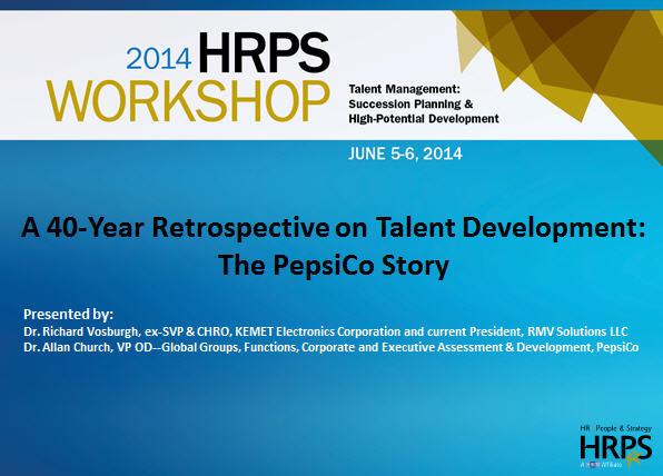 Pepsico's Talent Development HRM 532